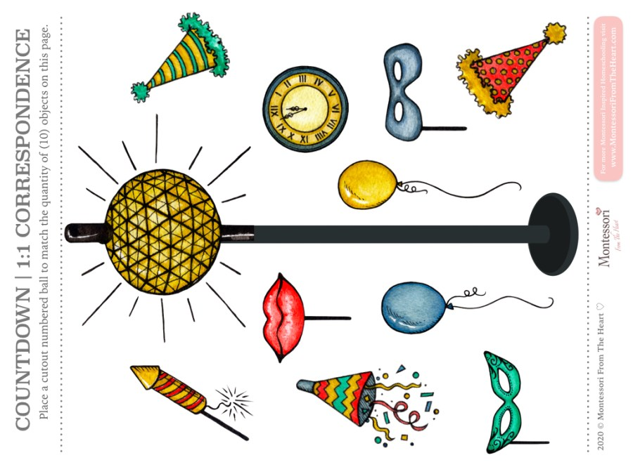 NEW YEAR COUNTDOWN KIDS ACTIVITY POLE