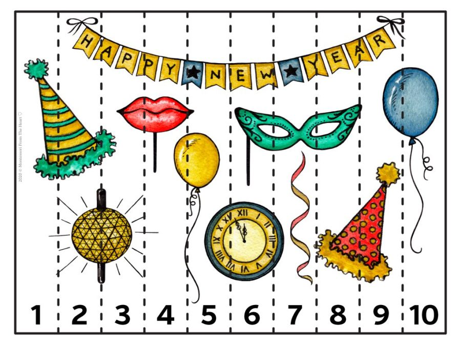 NEW YEAR's EVE PUZZLE STRIP 1-10