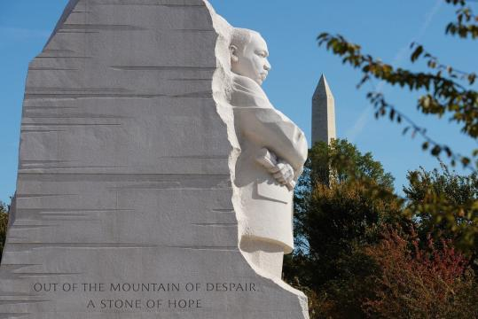 "Dr. King in Washington D.C. The ""Stone of Hope"""