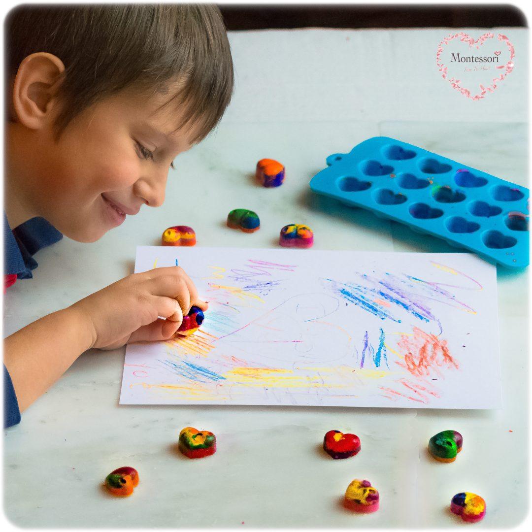 *DIY Hearts-Melted-Crayons