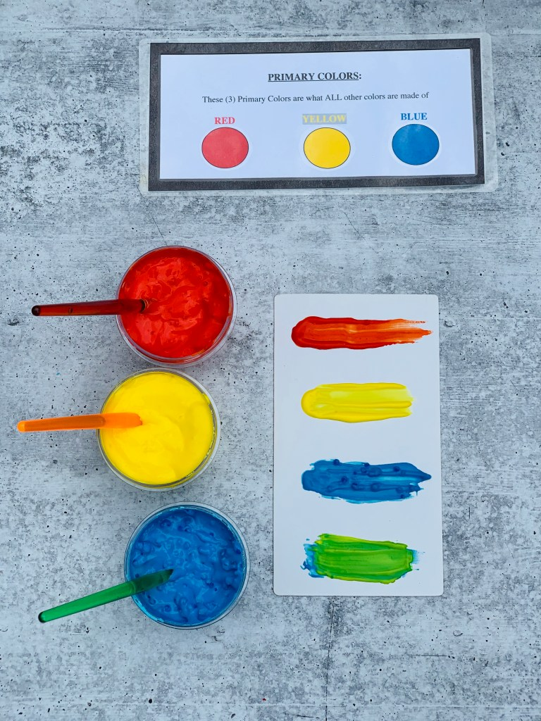 PRIMARY COLORS BABY TASTE-SAFE PAINT