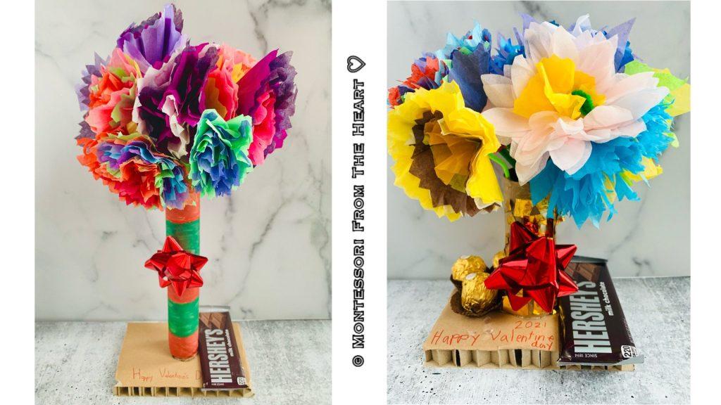 PAPER FLOWERS Valentine Teach Gift