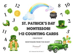 St Patrick's Montessori Count-and-Clip Cards