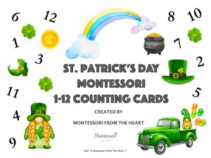 St Patrick's Montessori Count-and-Clip Cards