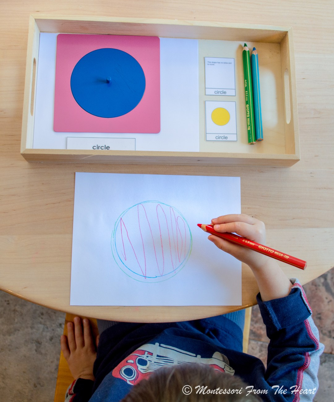 Tracing a CIRCLE Montessori Metal Inset Presentation Lesson