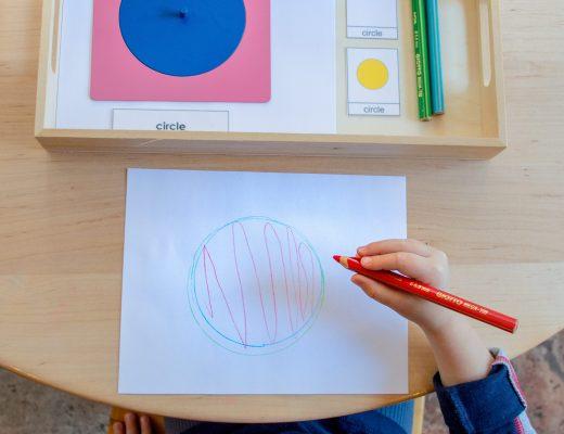 Tracing a CIRCLE Montessori Metal Inset Presentation Lesson