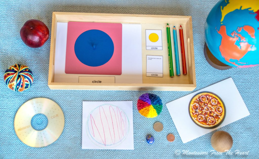 EXPLORING CIRCLE SHAPE WITH Montessori Metal Insets