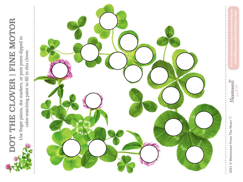 St. Patrick's Day DO-A-DOT Toddler Activities