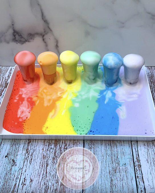 *Rainbow Elephant Toothpaste STEM Kids Science Experiment Montessori