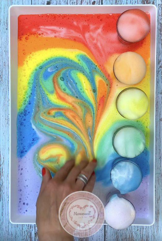 *Rainbow Elephant Toothpaste STEM Kids Science Experiment Sensory Play Idea