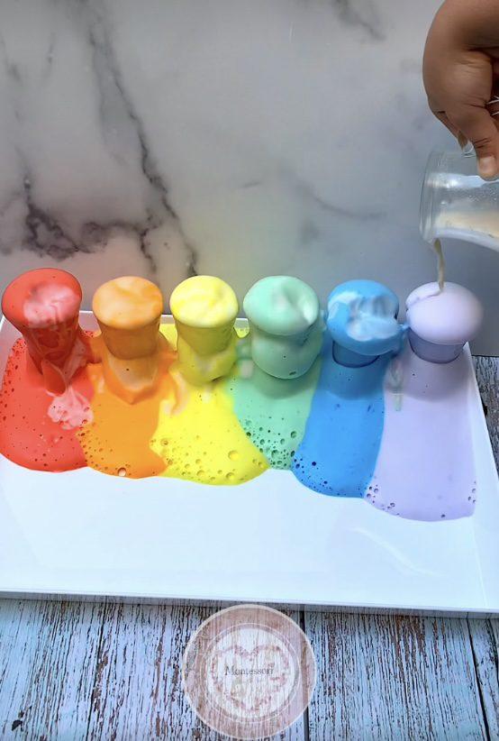 *Rainbow Elephant Toothpaste STEM Kids Montessori Science Experiment