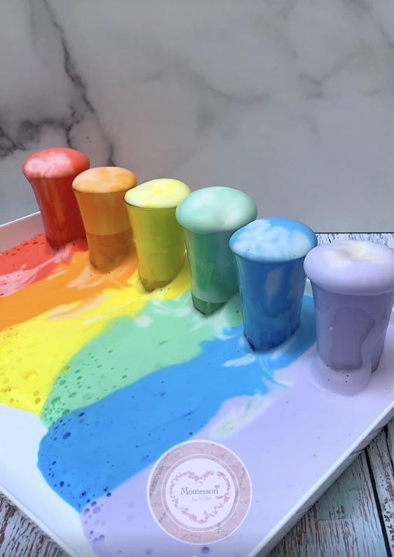 *Rainbow Elephant Toothpaste STEM Kids Science Experiment