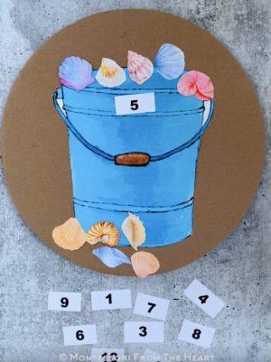 Seaside Shells Bucket Counting