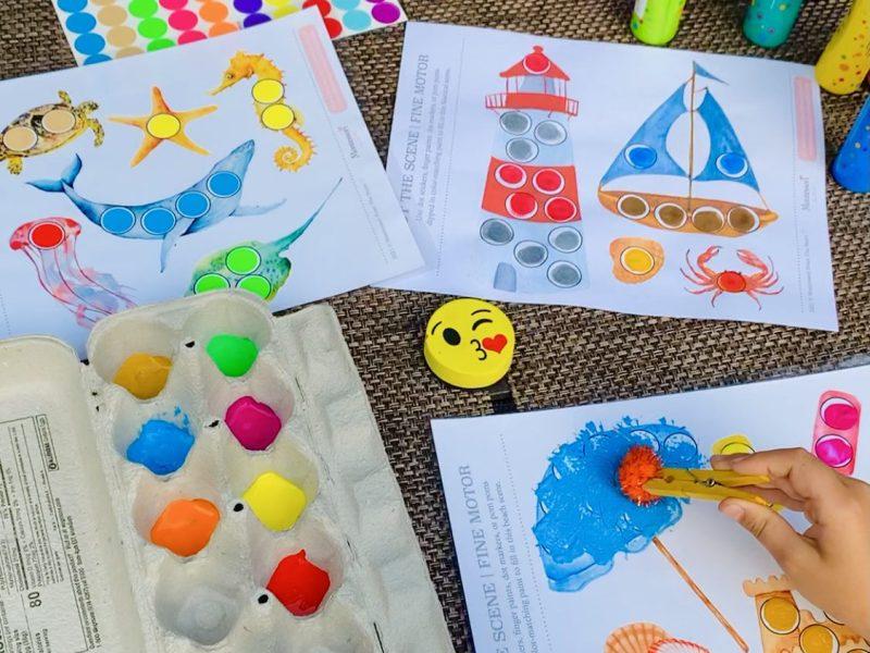 *Seaside Do-a-Dot Toddler Activities