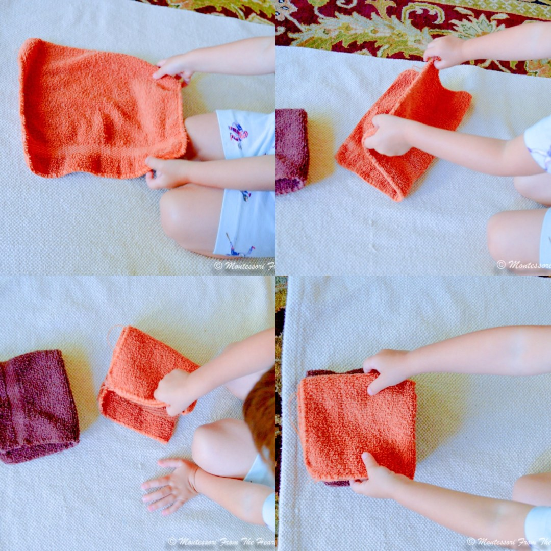 Lr folding brown towels
