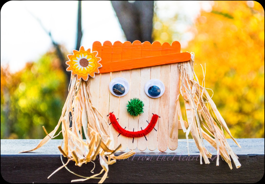 Fall Harvest Inspired Popsicles Scarecrow DIY Craft