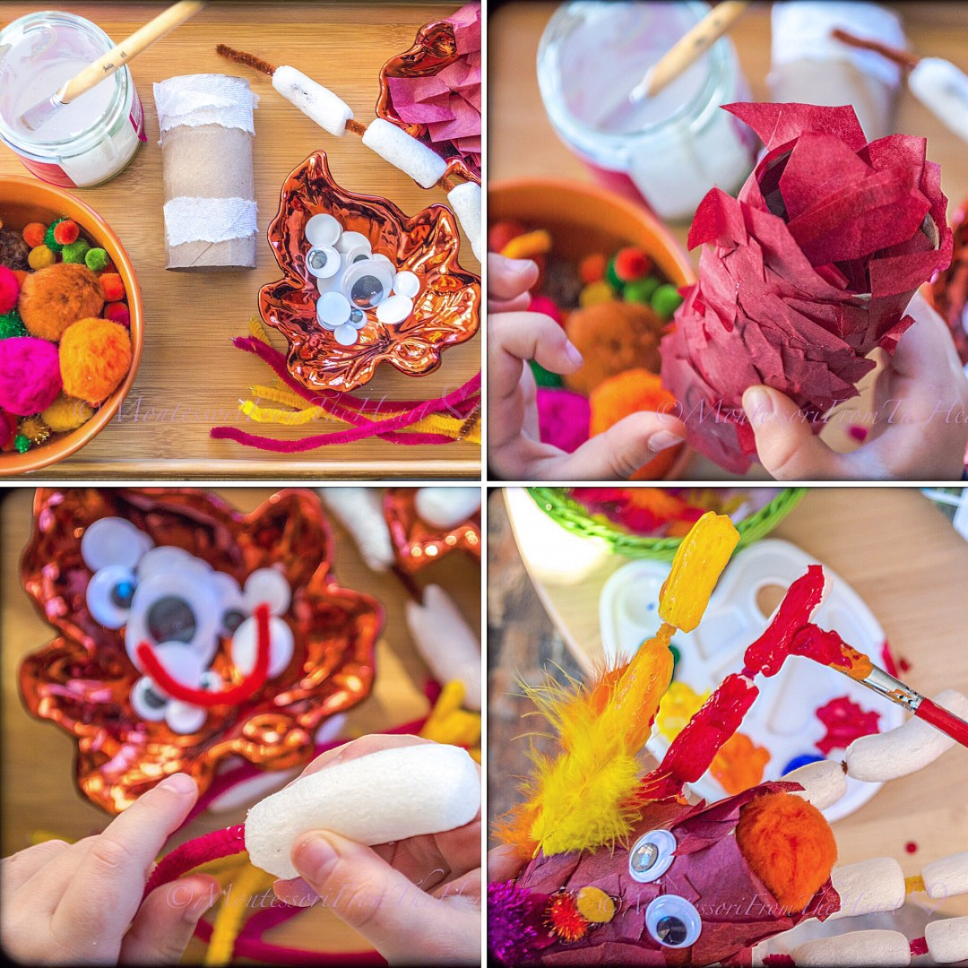 DIY Pipe Cleaners Paper Mache Turkey Thanksgiving Inspired Craft