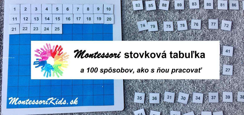 Montessori stovková tabuľka