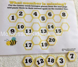 včely počítanie