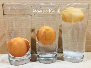 Pokusy s deťmi - hustota vody