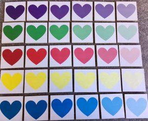 Zmysly montessori farebné doštičky