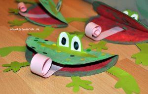 Žaba tvorenie s deťmi