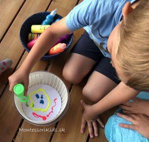Maľovanie s odstredivkou na šalát