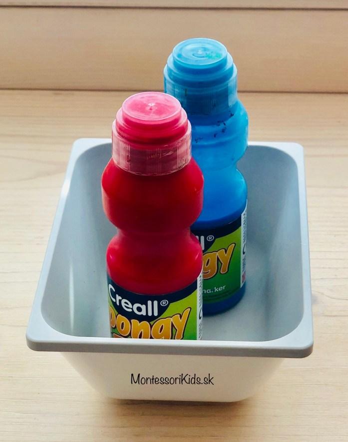 Špongiové farby, tvoríme s deťmi