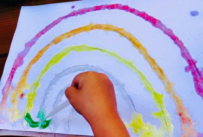 Maľovanie so soľou, tvorenie s deťmi