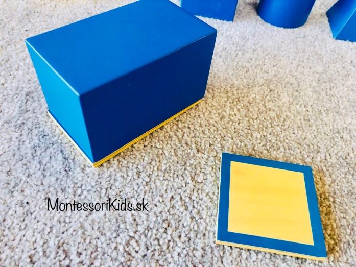 Montessori geometrické telesá