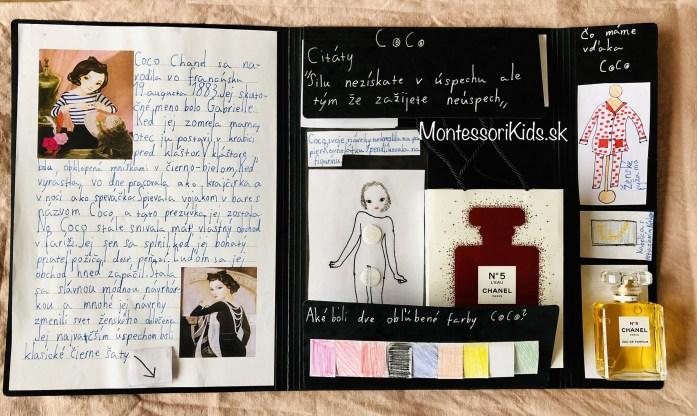 Lapbook o Coco Chanel
