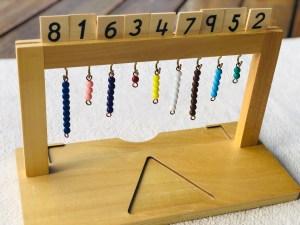 Stojan na farebné perly, počítanie