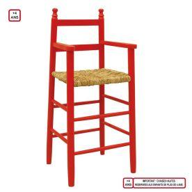 chaise-haute-enfant-hetre-rouge-vif