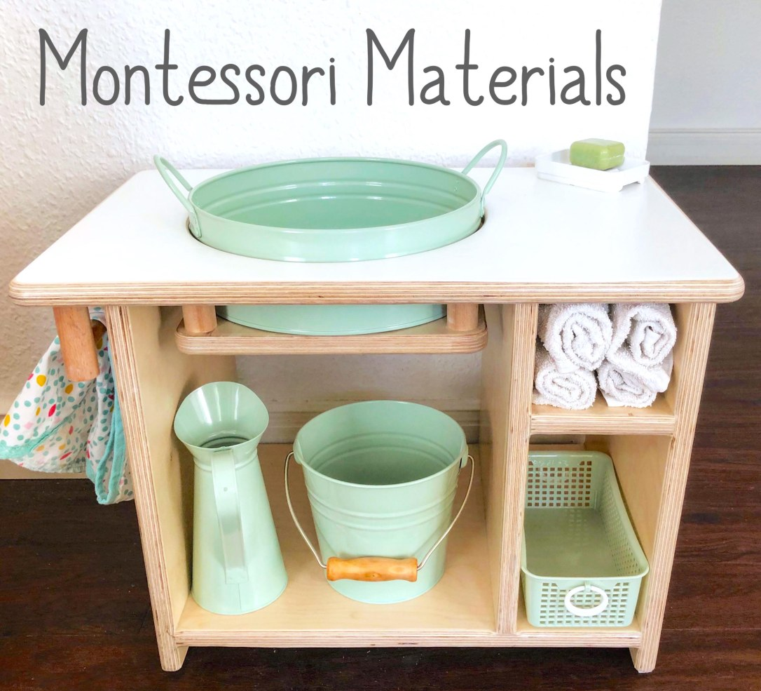 Montessori hand-washing table and self-care station made by montessori mother materials, featured in montessori mother elc, berlin's only montessori playgroup and Germany's first montessori early learning center