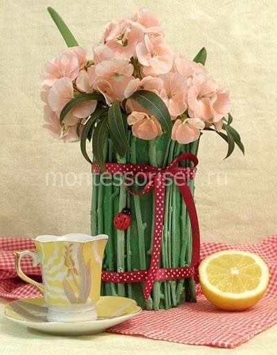Филиалдардан аналарға арналған вазочка