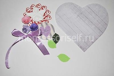 Бумажное сердечко и материалы для поделки