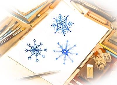 Desenho de flocos de neve para crianças