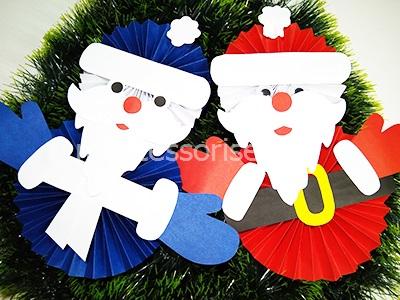 Кесуге арналған Santa Claus қағаз үлгілері
