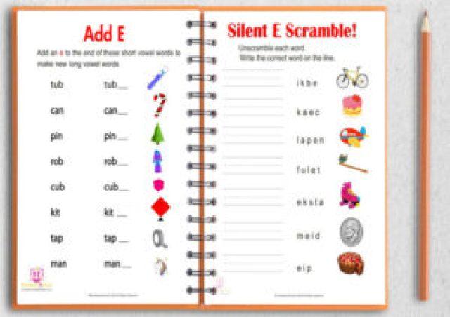 Silent e worksheet