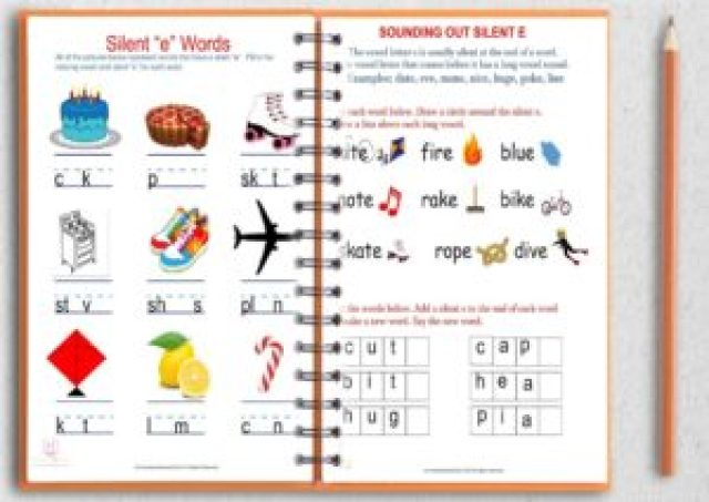 Silent e worksheets free download