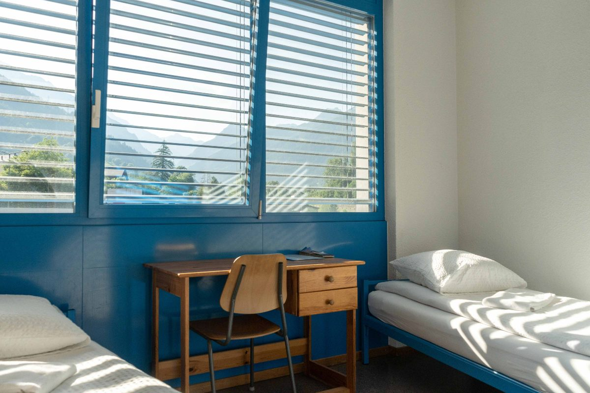 Chambre twin au Mont-Fort Swiss Lodge