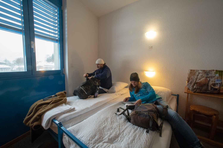 Chambre double au Mont-Fort Swiss Lodge
