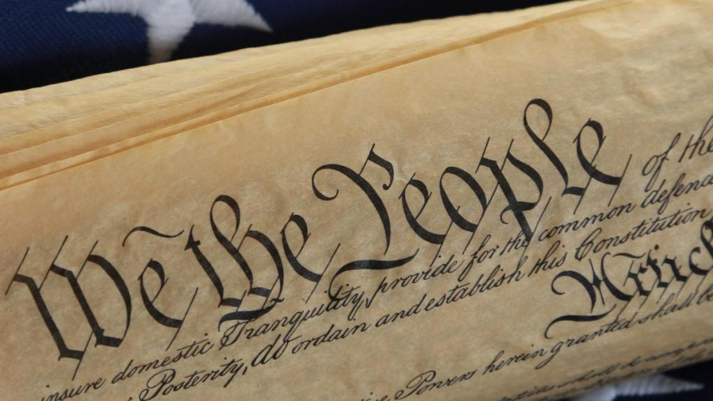 We the people, image of the constitution of the United States