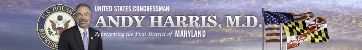 Banner from Rep. Andy Harris, MD-1