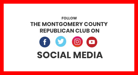 Social Media Icons on where you can find the Montgomery County Republican Club
