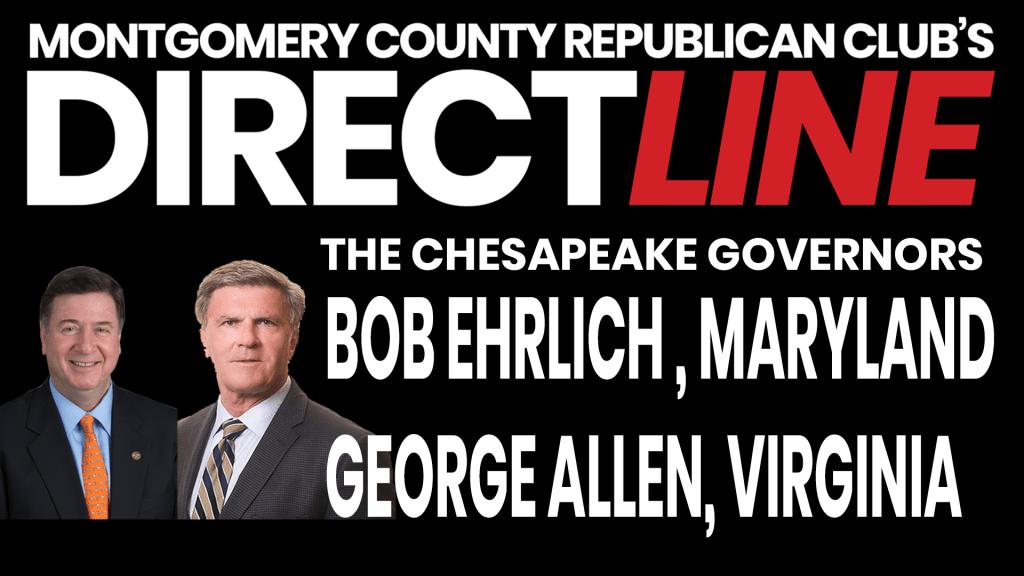 The Chesapeake Governors, Gov. Bob Ehrlich, MD & Gov. George Allen, VA