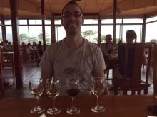 Alex sampling the wines