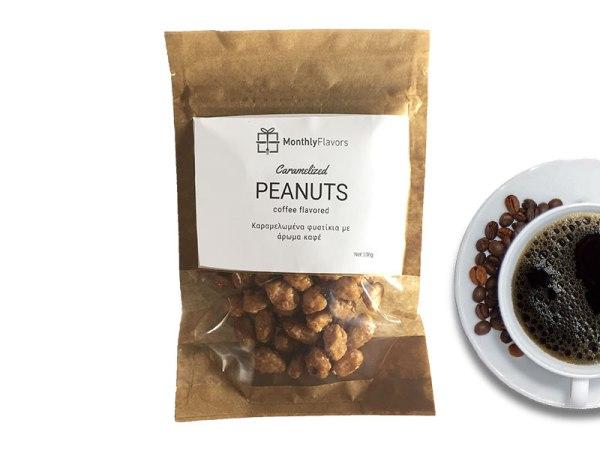 Caramelized peanuts coffee taste