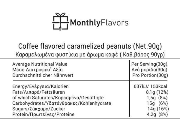 MonthlyFlavors σνακ καραμελωμένα φιστικιά καφέ