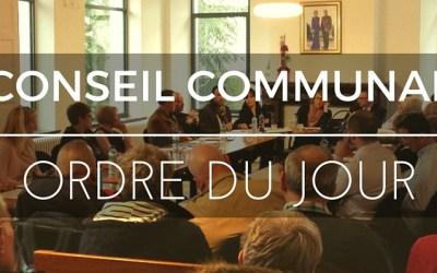 [ORDRE DU JOUR] Conseil communal du jeudi 20 Avril 2017
